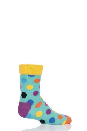Boys & Girls 1 Pair Happy Socks All Over Dots Cotton Socks Multi 2-3 Years
