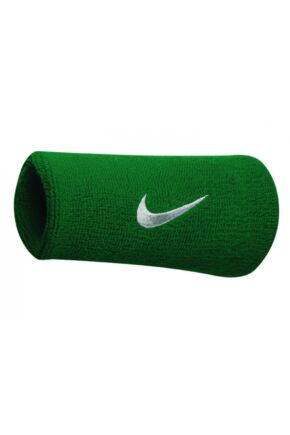 Mens and Ladies 2 Pack Nike Swoosh Double-Wide Wristbands Green