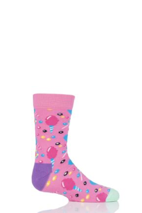 Boys & Girls 1 Pair Happy Socks Cotton Candy Cotton Socks Pink 12-24 Months