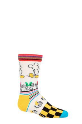 Kids 1 Pair Happy Socks Disney Sunny Sketch Sock