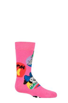 Kids 1 Pair Happy Socks Disney Daisy & Minnie Dot Sock Multi 4-6 Years