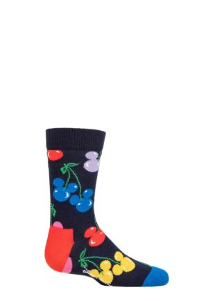 Kids 1 Pair Happy Socks Disney Very Cherry Mickey Sock