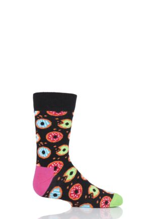 Boys & Girls 1 Pair Happy Socks Doughnut Cotton Socks