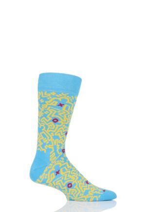 Mens and Ladies 1 Pair Happy Socks Keith Haring Untitled Socks