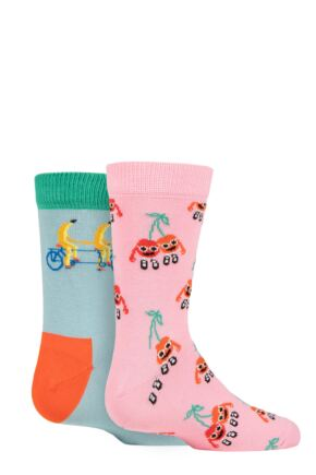 Kids 2 Pair Happy Socks Fruit Mates Socks