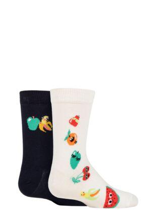 Kids 2 Pair Happy Socks Fruit Mix Socks