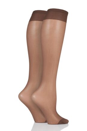 Ladies 1 Pair Pendeza 15 Denier Tone 10, 20, 30, 40 and 50 Knee Highs For Darker Skin Tones