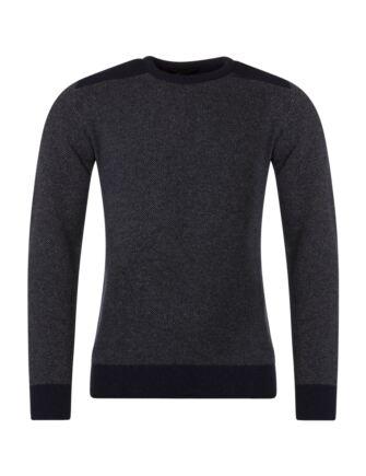 Mens Great & British Knitwear 100% Lambswool Birdseye Crew Neck Jumper