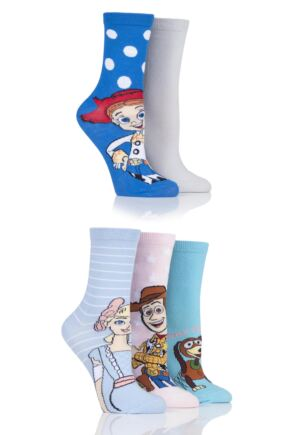 Ladies 5 Pair SOCKSHOP Toy Story Cotton Socks