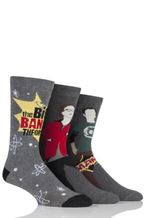 Mens 3 Pair Big Bang Theory Socks