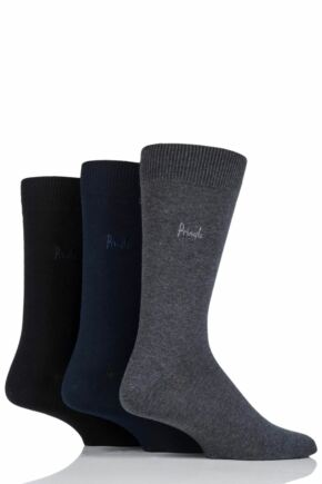 Mens 3 Pair Pringle Endrick Plain Trouser Socks