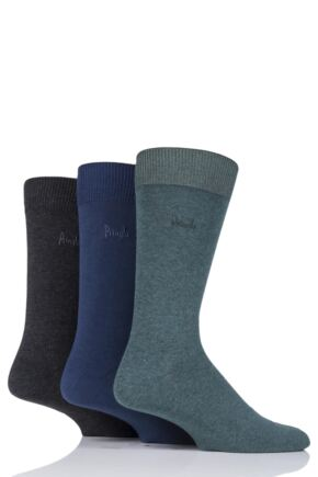 Mens 3 Pair Pringle Endrick Plain Trouser Socks Green / Navy 7-11