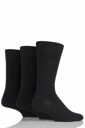 Mens 3 Pair Pringle Endrick Plain Trouser Socks Black 12-14 Mens