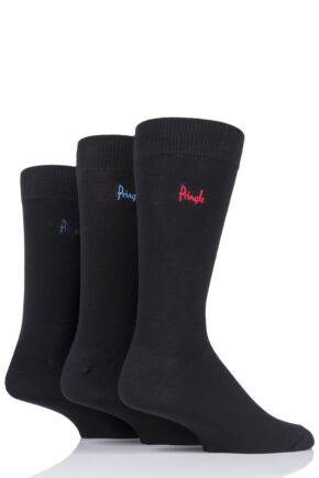 Mens 3 Pair Pringle Plain Rupert Bamboo Socks