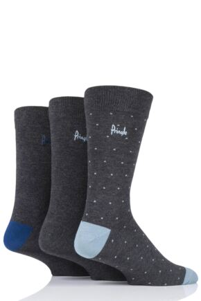 Mens 3 Pair Pringle Will Dots Bamboo Socks