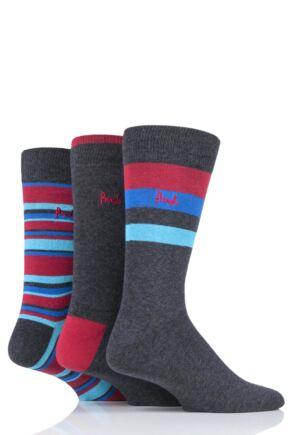 Mens 3 Pair Pringle Breamar Patterned Cotton Socks