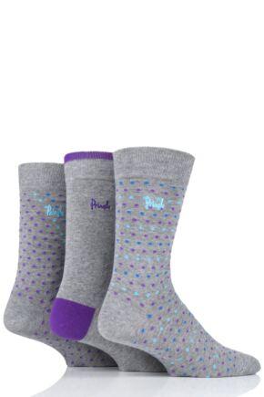 Mens 3 Pair Pringle Burntisland Patterned Cotton Socks