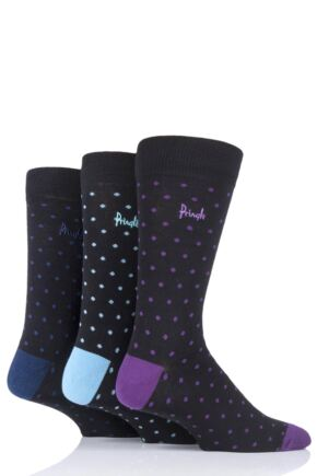 Mens 3 Pair Pringle All Over Spots Cotton Socks