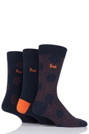 Mens 3 Pair Pringle Hawick Dots Cotton Socks