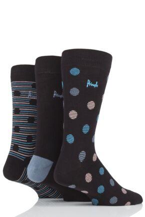 Mens 3 Pair Pringle Tommy Spots and Stripe Cotton Socks