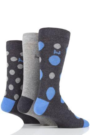 Mens 3 Pair Pringle Arthur Spots Cotton Socks
