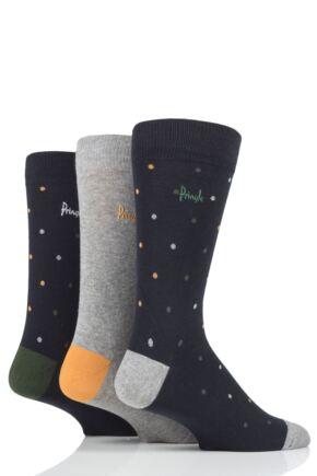 Mens 3 Pair Pringle John Spots Cotton Socks