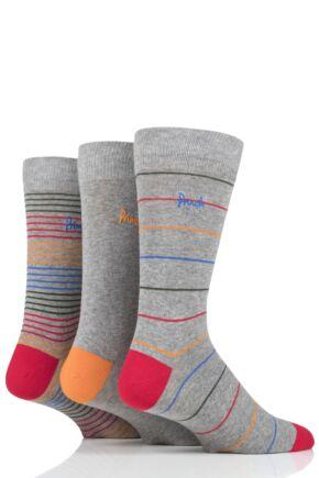 Mens 3 Pair Pringle Finn Stripes Cotton Socks