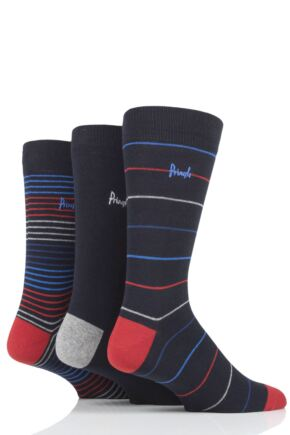 Mens 3 Pair Pringle Finn Stripes Cotton Socks