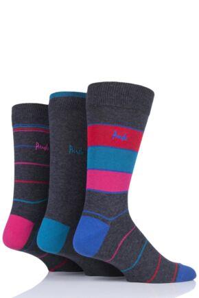 Mens 3 Pair Pringle StoneHaven Stripe Cotton Socks