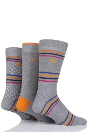 Mens 3 Pair Pringle Carluke Stripe  Cotton Socks