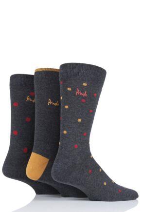 Mens 3 Pair Pringle Stanley Dots Cotton Socks