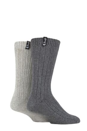 Mens 2 Pair Pringle Classic Boot Socks