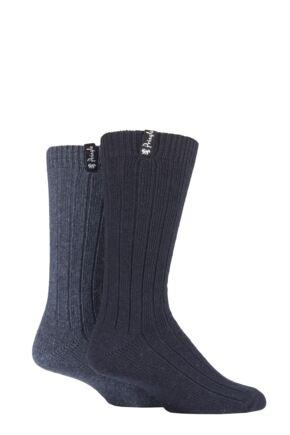 Mens 2 Pair Pringle Classic Boot Socks