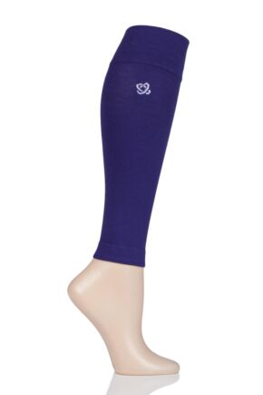 Mens and Ladies 1 Pair Atom Milk Compression Calf Sleeves Purple Large
