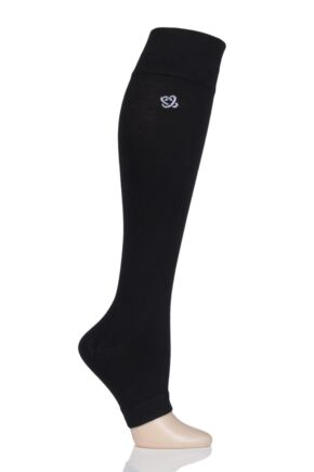 Mens and Ladies 1 Pair L'Atome Milk Compression Open Toe Socks