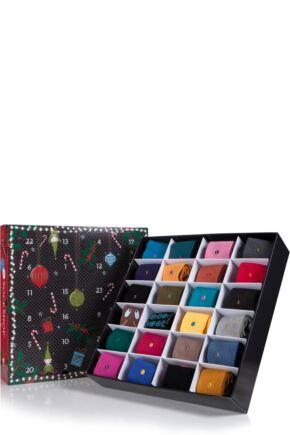 Ladies SockShop Colour Burst Socks Advent Calendar - 24 Pairs of Socks
