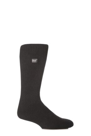 Mens 1 Pair SockShop Original Heat Holders Thermal Socks Charcoal 6-11