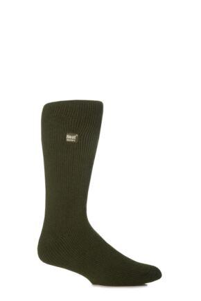 Mens 1 Pair SockShop Original Heat Holders Thermal Socks Forest Green 12-14