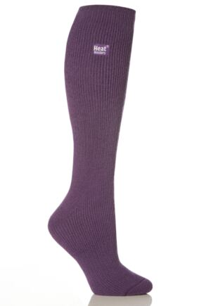 Ladies 1 Pair Heat Holders Original Thermal Socks with Gift Box Purple 4-8 Ladies