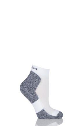 Ladies 1 Pair Thorlos Lite Running Thin Cushion Mini Crew Socks White 8-9.5