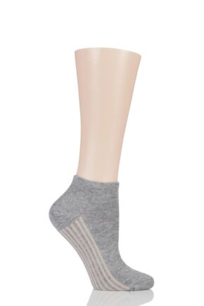 Ladies 1 Pair Braintree Solid Jane Bamboo and Organic Cotton Trainer Socks Grey Marle One Size