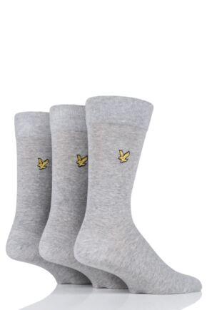 Mens 3 Pair Lyle & Scott Angus Eagle Embroidery Cotton Socks