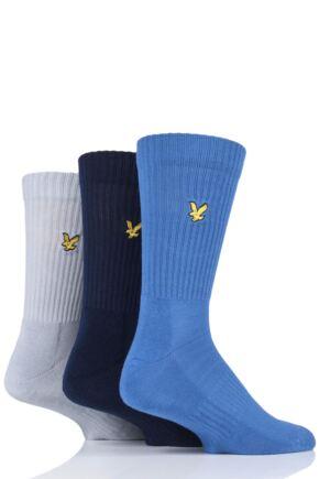 Mens 3 Pair Lyle & Scott Hamilton Plain Cotton Sports Socks