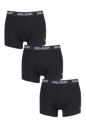 Mens 3 Pack Lyle & Scott Barclay Cotton Stretch Trunks