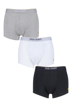 Mens 3 Pack Lyle & Scott Fergus Cotton Trunks