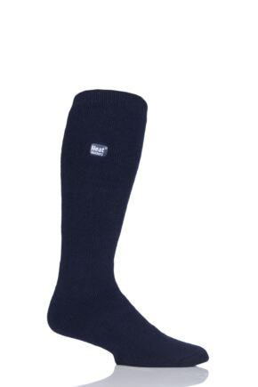Mens 1 Pair Heat Holders 1.6 TOG Lite Long Knee High Socks Navy 6-11
