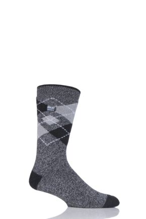 Mens 1 Pair Heat Holders 1.6 TOG Lite Argyle Socks