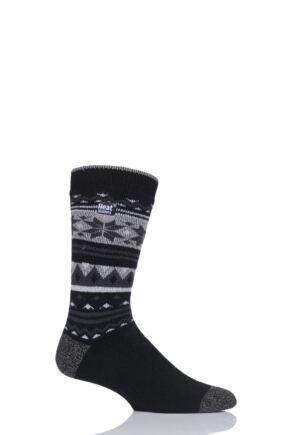 Mens 1 Pair Heat Holders 1.6 TOG Lite Fairisle Socks