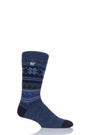 Mens 1 Pair Heat Holders 1.6 TOG Lite Fairisle Socks