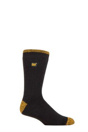 Mens 1 Pair SOCKSHOP Heat Holders Workforce 1.6 TOG Lite Reinforced Heel and Toe Work Wear Socks